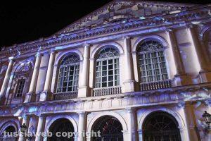 Viterbo - Il video mappino sul teatro Unione