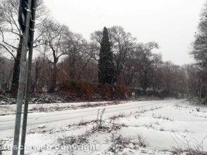 Maltempo - La neve sulla Cimina questa mattina, 28 dicembre 2017, alle 8
