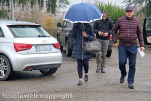 Viterbo - Delitto di via Santa Lucia - I familiari dei coniugi Fieno