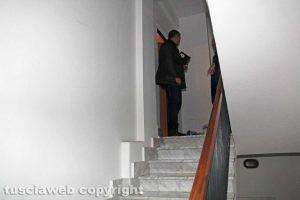 Viterbo - Delitto di via Santa Lucia - La porta dell'appartamento