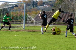Sport - Calcio - Montefiascone - Bomarzo - Il gol di Cissè