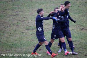 Sport - Calcio - Viterbese - Vandeputte esulta dopo l'1-0 all'Olbia