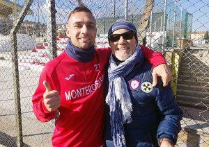 Renan Pippi con il presidente Capponi