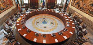 Roma - La sala del consiglio dei ministri