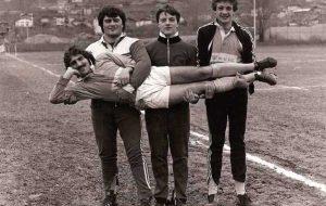Uno scatto del calendario degli Old rugby
