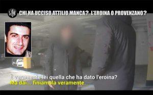 Monica Mileti intervistata dalle Iene - Nel riquadro: Attilio Manca