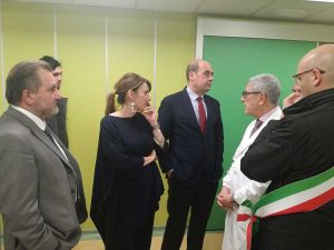 Civita Castellana - Nicola Zingaretti all'ospedale Andosilla
