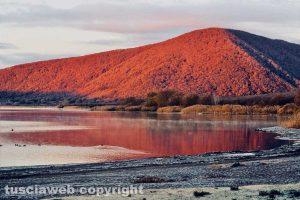Il lago di Vico all'alba