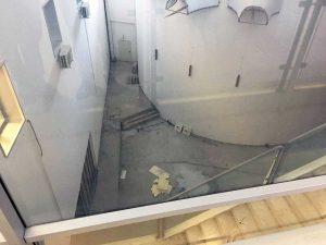 Viterbo - Belcolle - La hall prima dei lavori