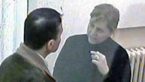 Mariangela Di Trapani con il marito Salvino Madonia durante un colloquio al 41 bis