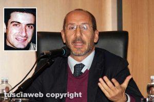 L'avvocato Cesare Placanica - Nel riquadro: Attilio Manca
