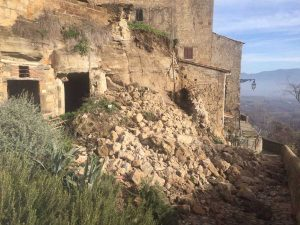 Civitella D'Agliano - Il crollo nel centro storico