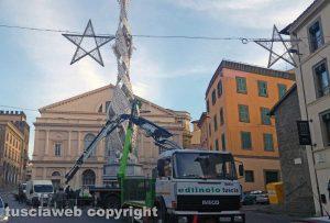 Viterbo - Fiore del Cielo a piazza Verdi - Lo smontaggio