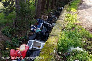 Viterbo - Cumuli di rifiuti nel quartiere Ellera