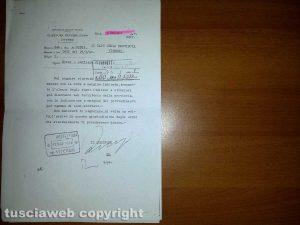 Viterbo - I documenti dei fascisti riguardanti gli ebrei viterbesi trovati in archivio da Sguario