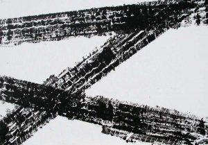 Alfonso Talotta - Tracciati urbani 1979 - Acrilico su tela