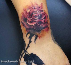 Un'opera del tatuatore Nicola Burratti