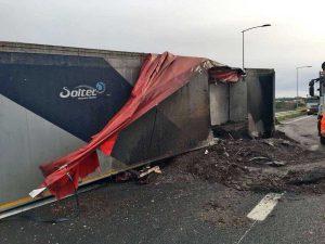 Tarquinia - L'incidente sull'autostrada