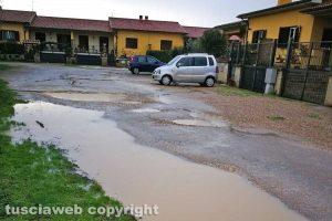 Tuscania - Il degrado a via Alarico Santi