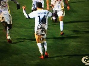 Sport - Calcio - Viterbese - L'esultanza di Luca Baldassin