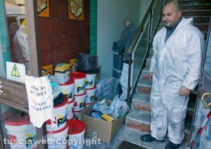 Viterbo - I lavori in via della caserma