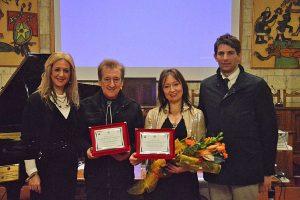 La presidente Ranucci, il giornalista Salvatori, la mezzosoprano Chialli e il vicesindaco Catini