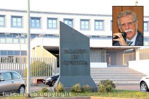 Il tribunale di Viterbo - Nel riquadro: Il presidente della corte d'appello di Roma Luciano Panzani