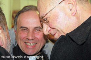 I vescovi Lino Fumagalli e Domenico Pompili all'inaugurazione di Confcommercio Lazio Nord