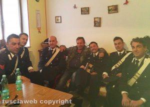 """Set del Principe libero - Mario Rosati con Ciro Esposito e gli altri """"militari"""" della compagnia di Tempio Pausania"""