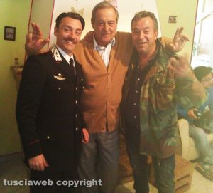 Set del Principe libero - da sinistra: Ciro Esposito, Ennio Fantastichini e Mario Rosati