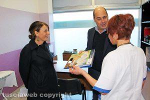 Viterbo - Daniela Donetti e Nicola Zingaretti al consultorio della Cittadella della salute