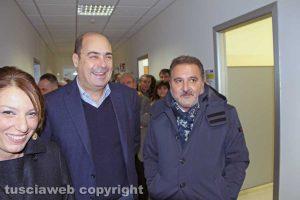 Viterbo - Daniela Donetti , Nicola Zingaretti ed Enrico Panunzi al consultorio della Cittadella della salute