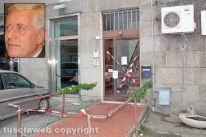 La palazzina in via della Caserma - Nel riquadro Leonardo Michelini
