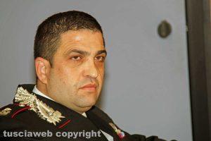 Viterbo - La conferenza stampa dell'operazione Birretta - Il maggiore Marcello Egidio