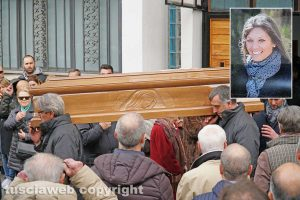 Viterbo - Il funerale di Sara Perlorca