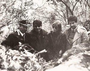 Fabrizio De André con il capitano Vincenzo Rosati
