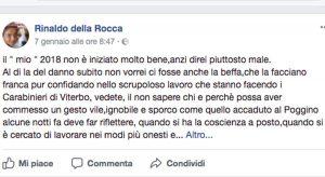 Maxi rogo del Poggino - Lo sfogo dell'imprenditore Rinaldo Della Rocca su facebook