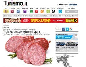 Il salame cotto della Tuscia su Turismo.it