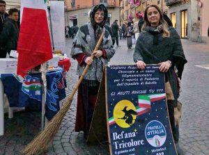 Viterbo - Befana Tricolore a piazza delle Erbe
