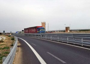 Tarquinia - Autotreno contromano sulla Civitavecchia-Porto