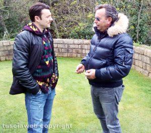 Mario Rosati con l'attore Ciro Esposito, che nel biopic interpreta il padre Vincenzo