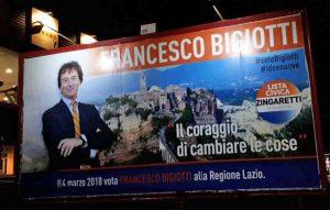 Uno dei manifesti di Francesco Bigiotti a Viterbo