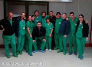 Viterbo - Lo staff del pronto soccorso al lavoro la notte di Capodanno