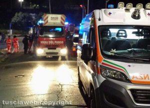 Viterbo – Palazzina in fiamme in via della Caserma