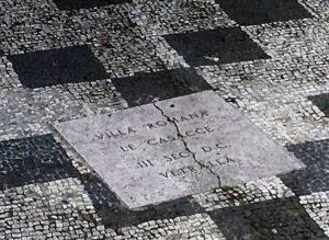 Vetralla - Il mosaico antico rovinato