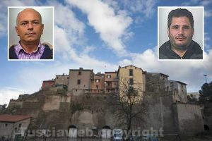 Canino - Nei riquadri: Salvatore Callea e Giuseppe Patania