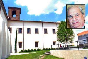 Viterbo - L'università della Tuscia - Nel riquadro: Giuseppe Fioroni