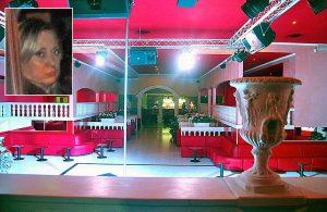 Viterbo - Operazione Birretta - Il night club sequestrato - Nel riquadro: Elena Agafonova
