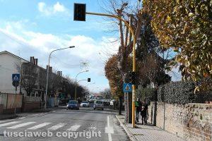 Nepi - Il semaforo in via Roma