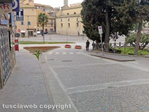 Viterbo - Via Cairoli, lavori finiti